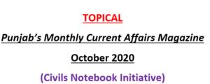 Punjab October Current Affairs